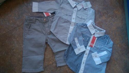 Kanz Baby Kinder Hemd Taufanzug Taufe Hose Neu 62 68 74 80 86 grau weiß blau