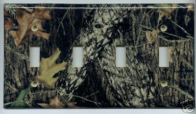 Mossy Oak Break Up Four Gang Light Switch Plate Cover