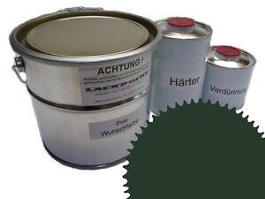 1,5 Liter Set 2K Floor Coating Ral 6020 Green Shine Floor Color Workshop