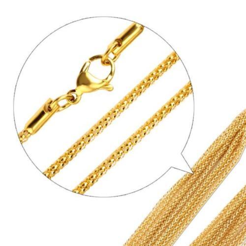 Himbeerkette 2 mm 999er Gold 24 Karat vergoldet Damen Herren gelbgold K2869L