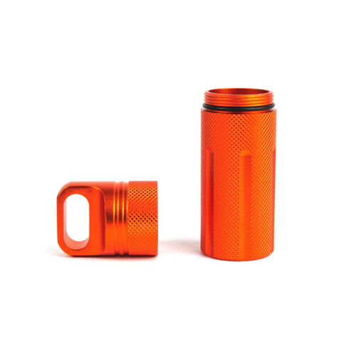 Waterproof Seal Case Pill Capsule Bottle Outdoor Survival EDC Box Case Container