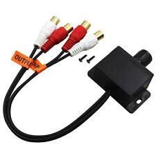 Car Home Audio Amplifier Bass RCA Gain Level Volume Control Knob LC-1 Black U3H7