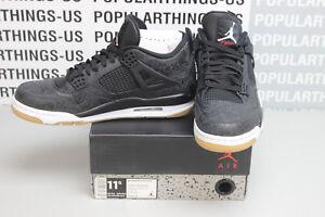 c01ca14ca7e9 Nike Air Jordan Retro 4 SE Laser Black Gum 30th Anniversary CI1184 ...