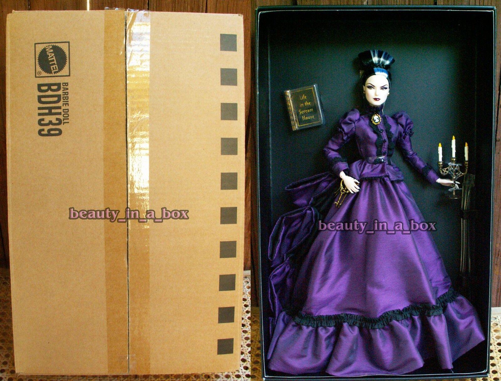 Muñeca Barbie Maestra De La mansión embrujada Belleza Colección embarcador oro Label