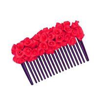 Blossom Red Rose Gajra Hair comb hair clip