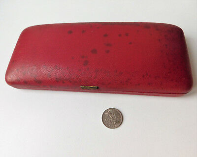 Vintage red jewellery case EMPTY box for necklace etc 1950s 1960s