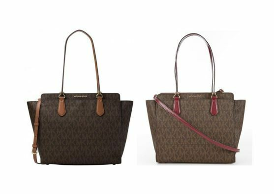 597866cdd60d Michael Kors Dee Large Signature Convertible Tote Brown for sale online