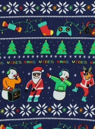 Dab// Floss Dance Move Boys Navy Santa Print Christmas Sweatshirt kids Jumper