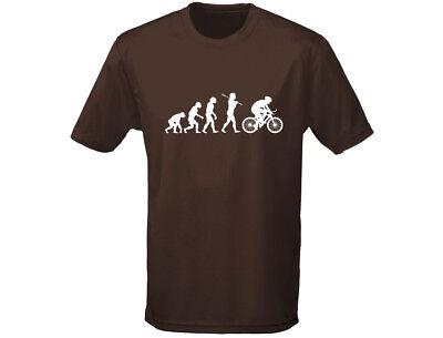 Aggressiv Cycling Evo Evolution Funny Mens T-shirt (12 Colours) Eine VollstäNdige Palette Von Spezifikationen