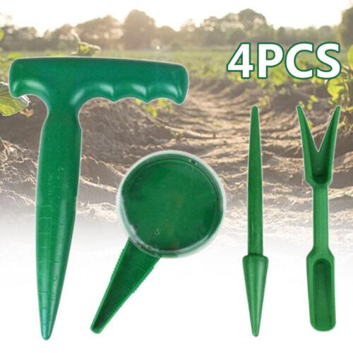 4Pcs Gardening Tool Seed Dispenser Soil Puncher Sowing Planter Seeder Tools