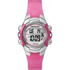 Ladies Timex Marathon Indiglo Digital Alarm Pink Rubber Sports Watch T5K808