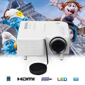przenośny 1080P LED Projektor dom teatr kino multimedialny VGA/USB/SD/AV/HDMI DE