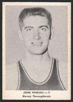 1955 ASHLAND AETNA OIL ~ JOHN POWLESS ~ MURRAY STATE ~ SHORT PRINT ~ ROOKIE CARD