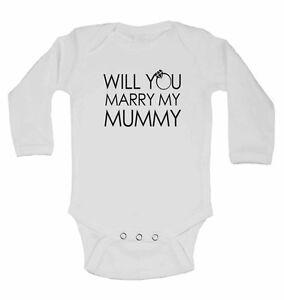 Will You Heiraten My Mummy Langärmlig Baumwolle Baby Westen Für Jungen,mädchen Baby Kleidung, Schuhe & Accessoires