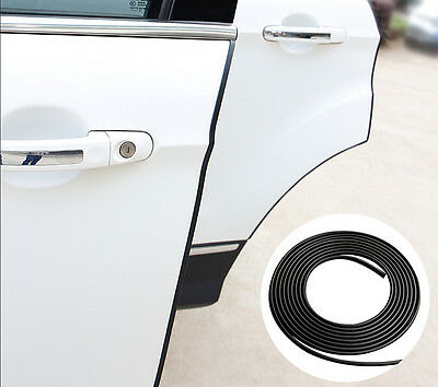 32FT Black Rubber Strip Car SUV Door Edge Damage Dent Protection Scratch Guard