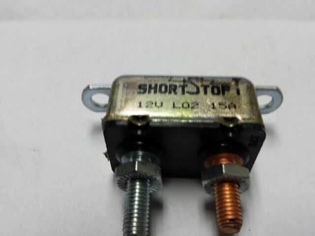 1-12 Volt Short Stop Circuit Breaker Metal 15 Amp New (32C)