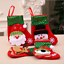 12 PCS Christmas Stocking Socks Santa Claus Candy Bag Xmas Tree Hanging Ornament