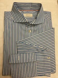 ETON-contemporary-Sweeden-Blue-amp-White-Striped-16inch-Mens-Luxury-Shirt-rrp-165