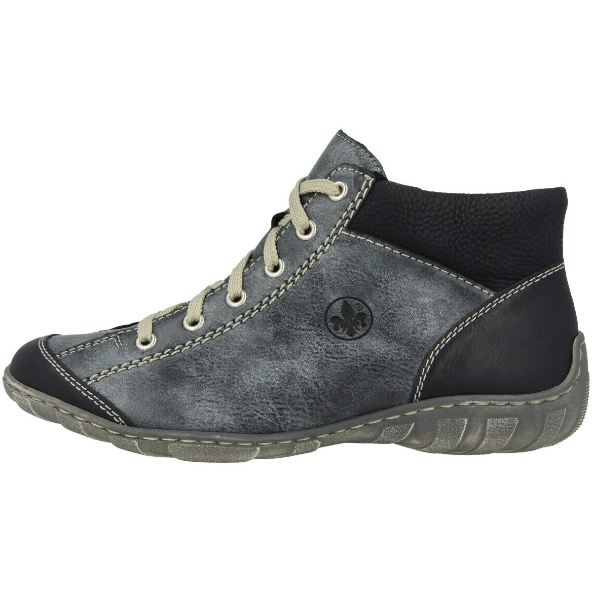 Rieker eagle-serbia-wildebuk shoes antistress high top sneaker boots m3731-14