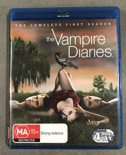 1 of 1 - THE VAMPIRE DIARIES Complete First Season Blu-Ray, 4-Disc Set 2010