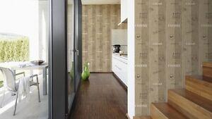 Küchen-Tapete A.S. Creation 884510 / Tapete Holzoptik / Küche Kaffee ...