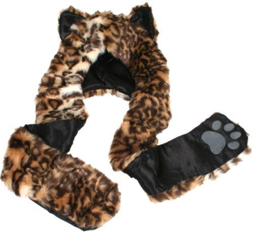 Leopard CAPPELLO ANIMALE Mitten SCIARPA