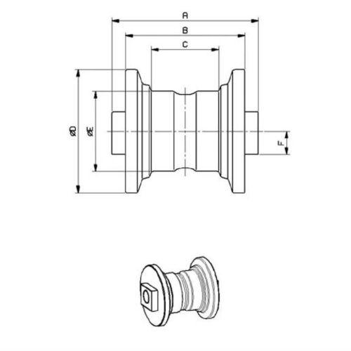 772147-37305 VIO55 u B50V B5 LAUFROLLE für Minibagger Yanmar VIO40V w.