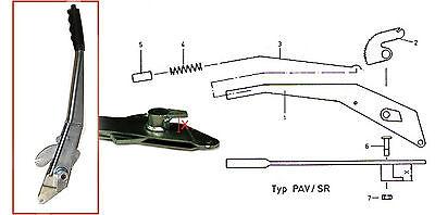 Peitz Handbremse für PAV/SR Auflaufbremsen,Handbremshebel mit Maß  X=52mm  80025