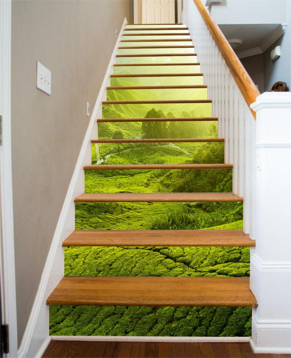 3D Grn Rasen 4672 Stair Risers Dekoration Fototapete Vinyl Aufkleber Tapete DE