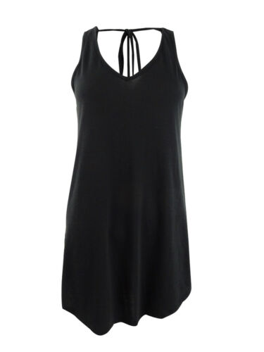 Miken Women/'s Tie-Back Cover-Up Dress Swim Cover-Up