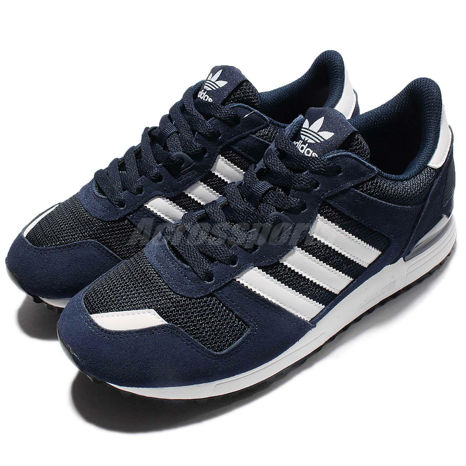 0ebfa8d84 low-cost adidas Originals ZX 700 Navy White Men Casual Shoes Sneakers  Trainers S76176