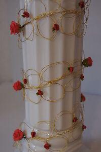 1 30 Geburtstag Rosengirlande Tischdeko Hochzeit K113 Rot Dekoration