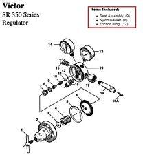 Victor Sr350d Oxygen Regulator Rebuildrepair Parts Kit