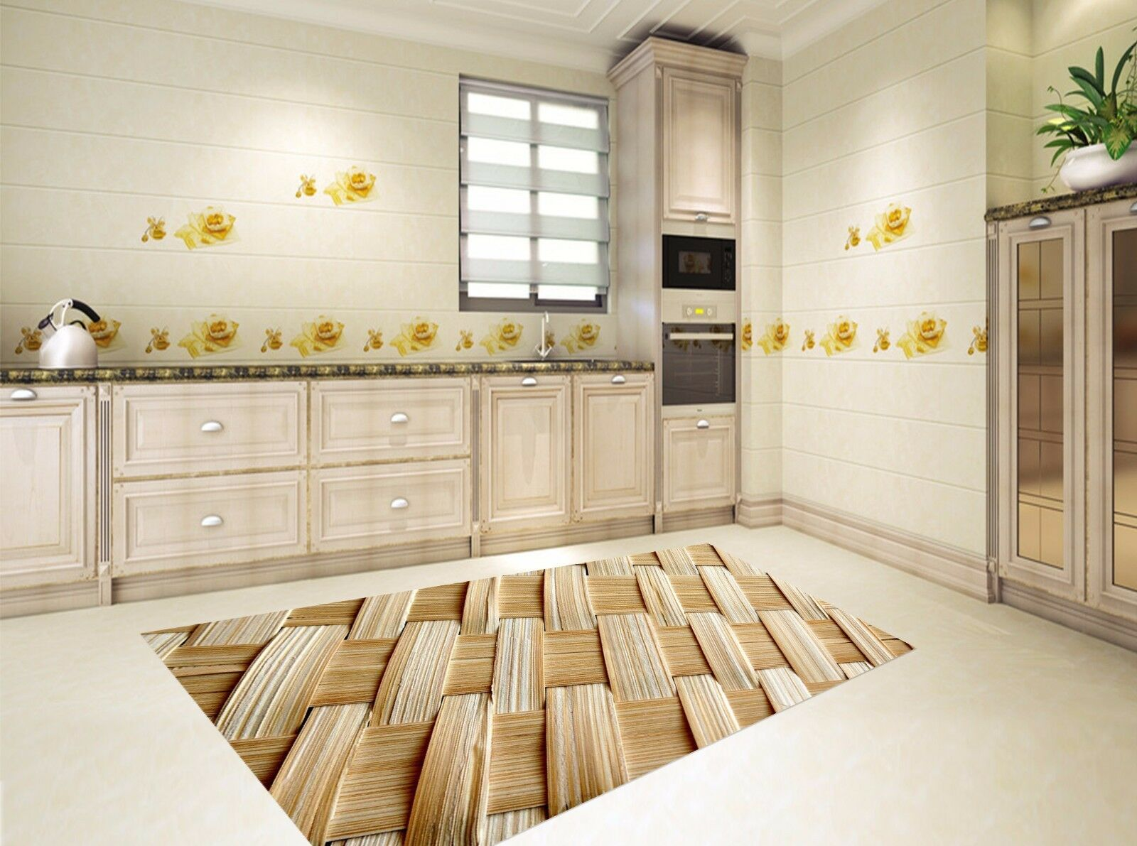 3D Bamboo 722 Kitchen Mat Floor Murals Wall Print Wall AJ WALLPAPER UK Kyra
