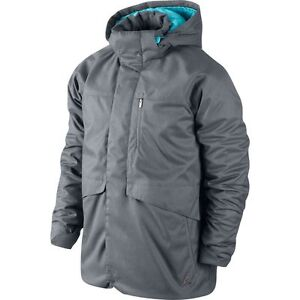 5f3d0c15c4c ... Mens Clothing Image is loading Nike-Air-Jordan-Down-Jacket-Grey-Sz ...