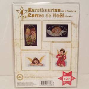 Christmas Angels Embroidery Kit Dutch / French Kerstkaarten