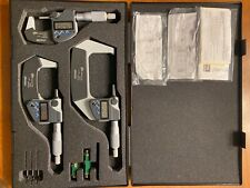 Barely Used Mitutoyo Digital Micrometer Set 0 3 Coolant Proofip65