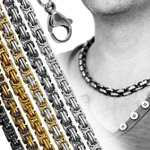 1-Edelstahlkette-Panzerkette-Koenigskette-Armband-Halskette-Herren-Damen-Collier