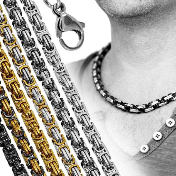 1 Edelstahlkette Panzerkette Königskette Armband Halskette Herren Damen Collier