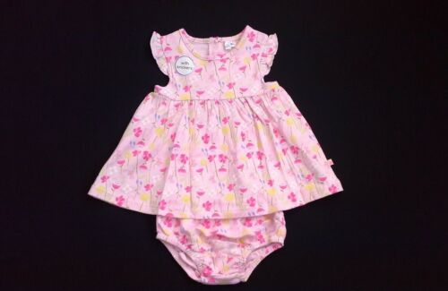 Baby girls clothes gersey dress and knickers set 0-3 3-6 6-9 9-12 months BNWT