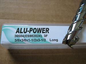 "3/8""x1 1/2"" LOCx3 1/2"" OAL YG-1 ALU-POWER 3 Flute Carbide End Mill ALUM ""NEW"""