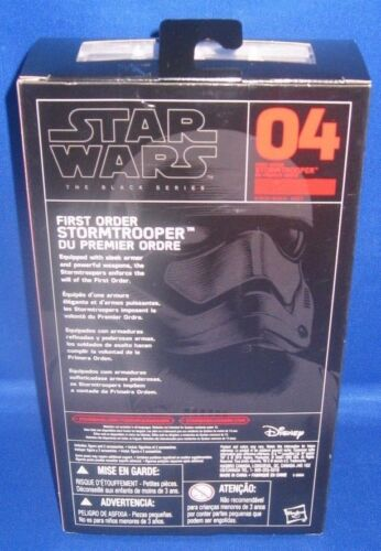 HASBRO STAR WARS THE BLACK SERIES THE FORCE AWAKENS #04 FIRST ORDER STORMTROOPER