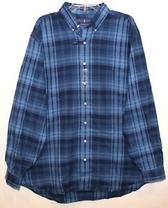 Polo-Ralph-Lauren-Big-amp-Tall-Mens-Blue-Plaid-Performance-Flannel-Shirt-NWT-3XLT
