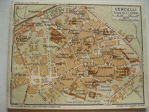 Cartina Militare Piemonte.Stampa Antica Mappa Pianta Carta Topografica Cartografia Piemonte Vercelli 1914 Ebay