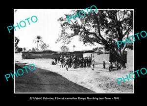 OLD-POSTCARD-SIZE-PHOTO-EL-MAJDAL-PALESTINE-VIEW-OF-AUSTRALIAN-TROOPS-c1941