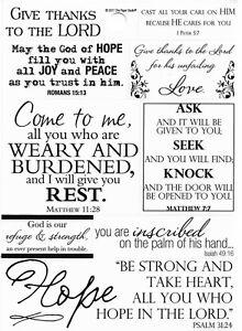 Religious Emmanuel Cross Love Forever PTL Bible Verse Phrase Scrapbook Stickers