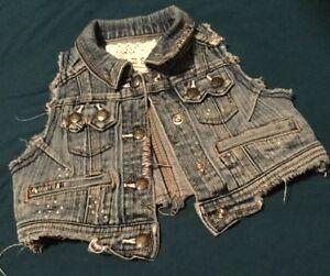 Other Newborn-5t Girls Clothes Impartial Euc Girls Guess Denim/jean Vest Size 3t Girls' Clothing (newborn-5t)
