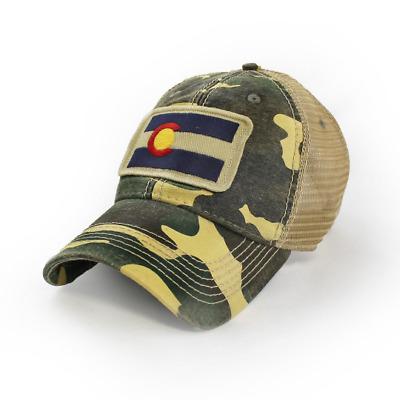 Americana Blue Colorado Flag Patch Trucker Hat