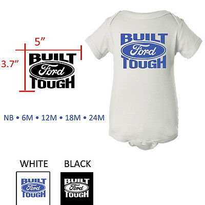 Built Ford Tough shirt baby tee one piece Ford romper bodysuit pink snapsuit