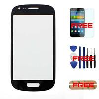 For Samsung Galaxy S3 Mini i8190 Front Outer Touch Screen Glass Lens Black+Tool
